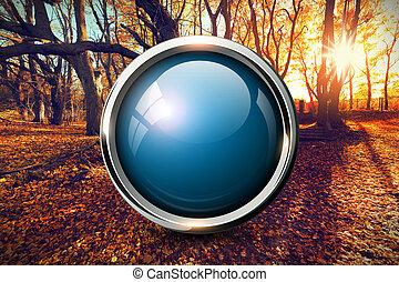 Blue shiny button background