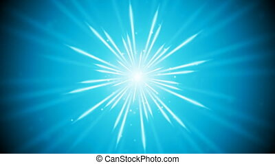 Blue shiny glowing beams video animation