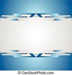 Blue shiny hi-tech motion flyer background