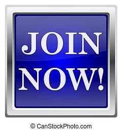 Blue shiny icon - Metallic shiny icon with white design on ...