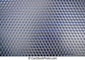 Blue shiny pattern surface of metal