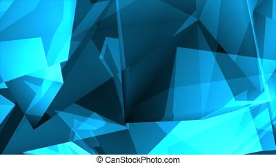 Blue Shiny Polygonal Triangles Background Loop modern Colorful Backdrop loop Animation. Corporate, Cinematic Presentations, Interview, Business and music videos Slideshow, Event, Party, titles, Logos