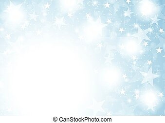 Blue shiny sparkling stars abstract background
