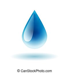 Blue shiny water drop vector illustration