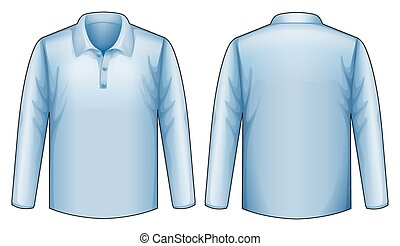 Blue shirt - blue shirt front and back view