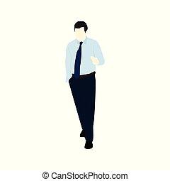 Blue Shirt Business People Illustration - Blue Shirt...