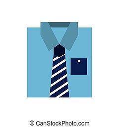 blue shirt clothes fashion folded vector illustration