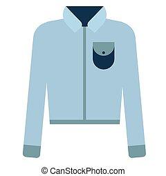 Blue shirt flat illustration. Lifestyle and everyday objects...