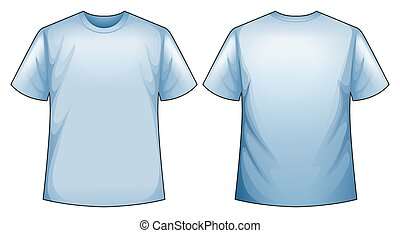 Blue shirt - Front and back view of blue shirt
