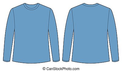 Blue shirt - Front and back view of t shirt