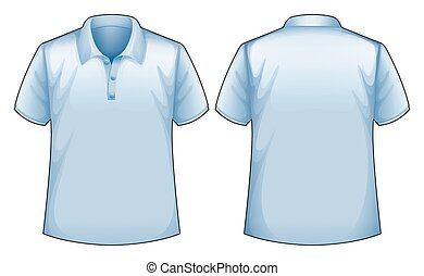 Blue shirt - Short sleeves blue shirt with front and back...