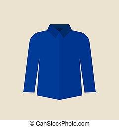 Blue shirt vector illustraton. Flat style design