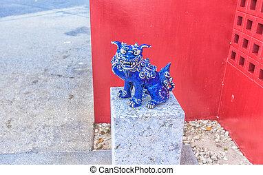 Blue Shisa in Okinawa