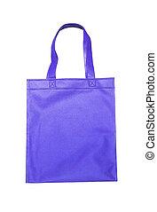 Blue shopping bag isolated