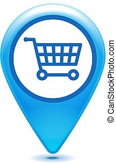 blue shopping cart pointer