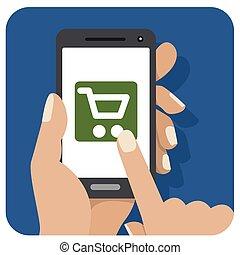 Blue Shopping Icon Mobile