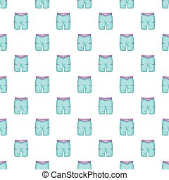 Blue shorts for swimming pattern, cartoon style
