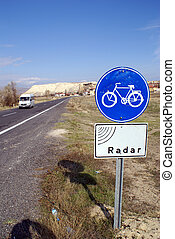 Blue sign in Cappado