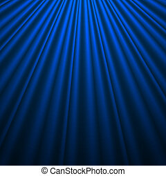 Blue silk background - Background with Blue Silk. Vector...