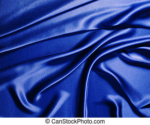Blue silk - background