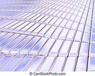Blue silver bars