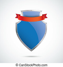 Blue Silver Protection Shield 2