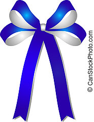 blue - silver ribbon