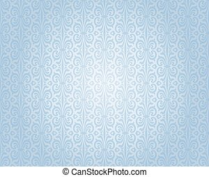 blue silver vintage wallpaper