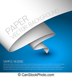 Blue simple background with white paper