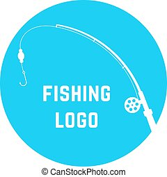 blue simple fishing logo