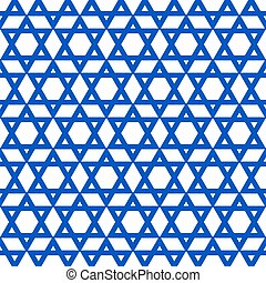 blue six-pointed star pattern