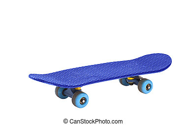 Blue Skateboard Isolated On White