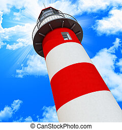 blue sky and classic light house