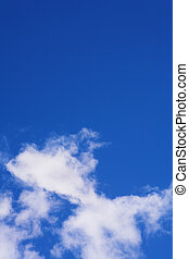 Blue Sky and Clouds #4 - Blue sky and white puffy clouds -...
