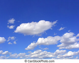 Blue sky and clouds - Beautiful white clouds over blue sky