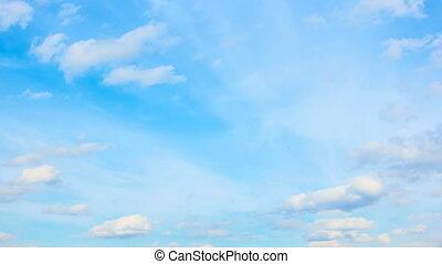 Blue sky and clouds - Blue sky and light fast white clouds -...