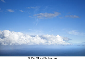 Blue sky and clouds.