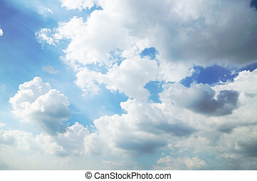 Blue sky and Clouds for use as background