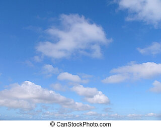 blue sky and clouds - blue sky and white
