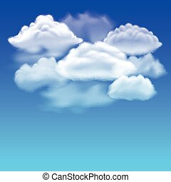 Blue sky and clouds vector background