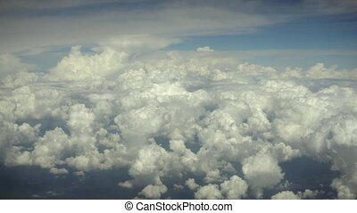 Blue Sky and Clouds View from a Plane