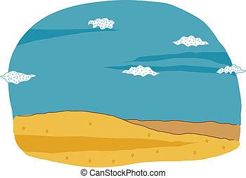 blue sky and landscape