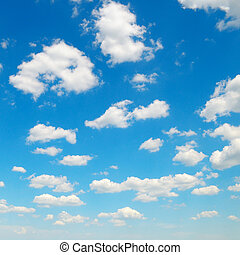 blue sky and light clouds