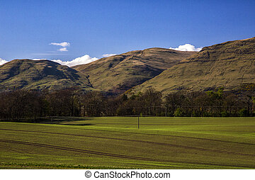 Blue Sky and mountain in Scotland