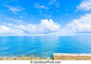 Blue sky and ocean, Okinawa