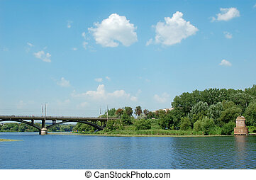 blue sky and river
