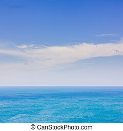 Blue sky and sea for background