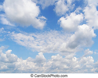 blue sky and white clouds 3