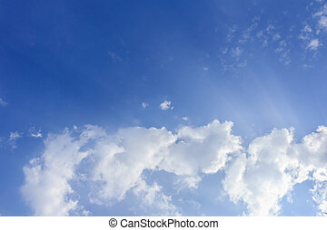 Blue sky and white clouds, may be used as background