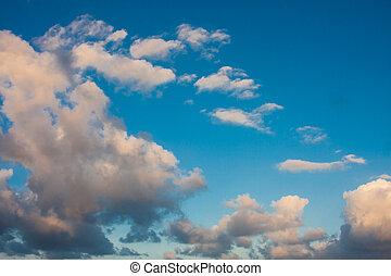 Blue sky at sunrise